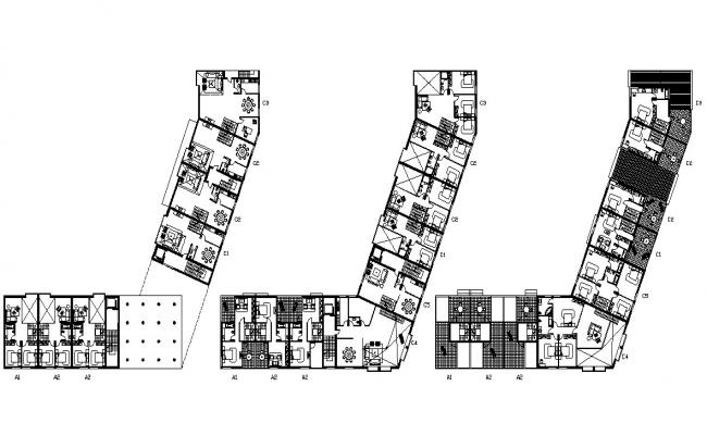 Apartment Floor Plan Design With Furniture Layout CAD File Free