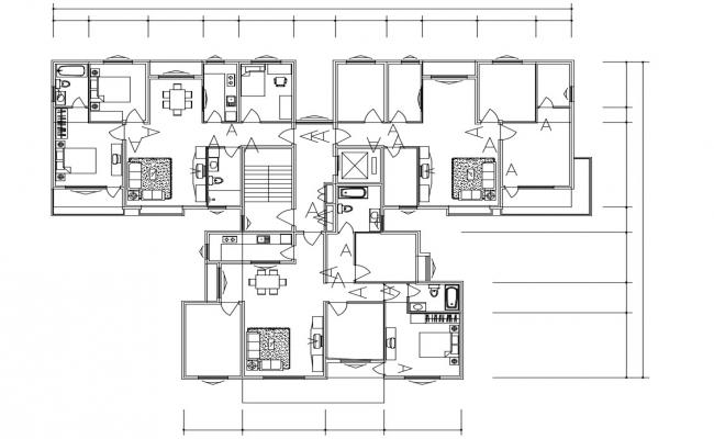 Apartment Floor Plans With Furniture Layout Autocad File free
