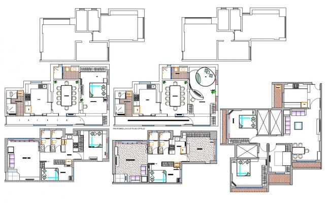 Apartment Furniture Layout Plan AutoCAD Drawing Download