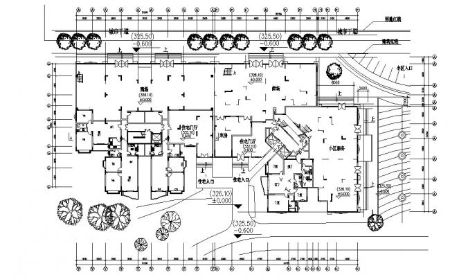Apartment Ground Floor Plan DWG File