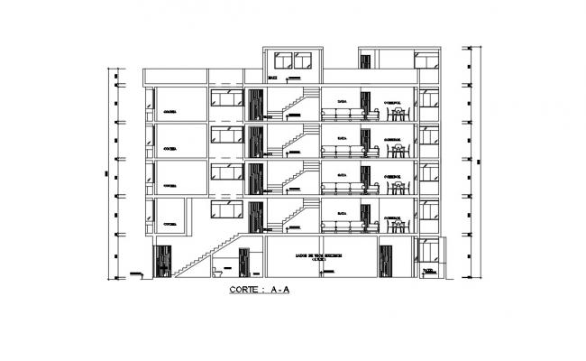 Apartment House Drawing In DWG File