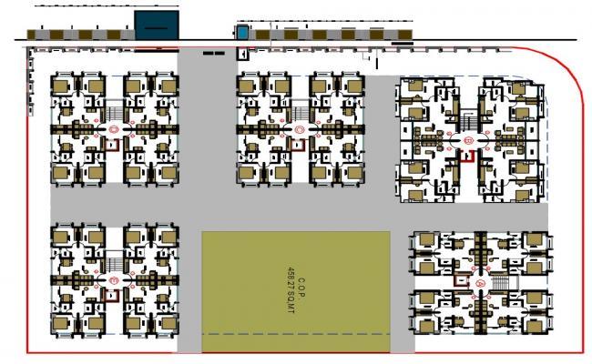 Apartment House Plan AutoCAD File