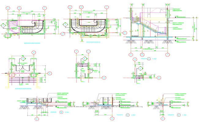 Apartment Staircase detail dwg file