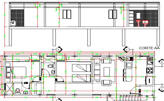 Apartment Unit Enlargement Project dwg file