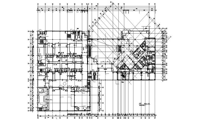 Apartment Working Layout Plan AutoCAD Drawing