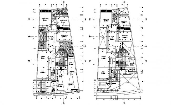 Apartment Working Plan AutoCAD drawing