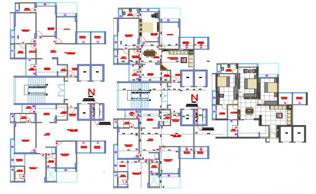 architecture plan in autocad dwg files
