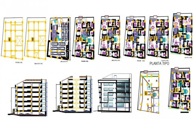 Apartment building housing