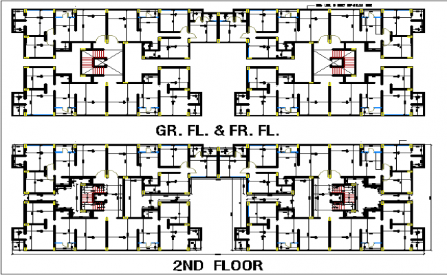 Apartment built up area plan dwg file