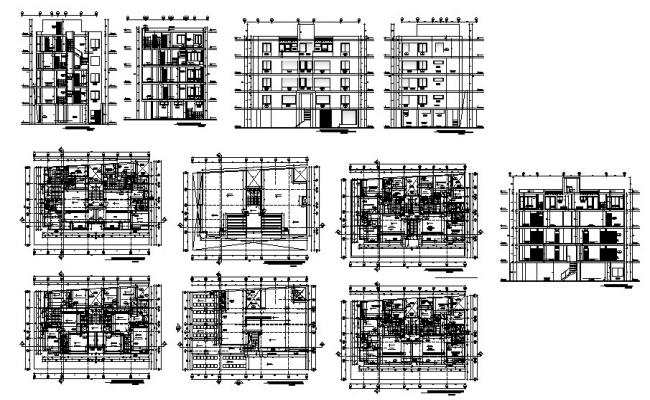 Apartment Building Plan In AutoCAD File