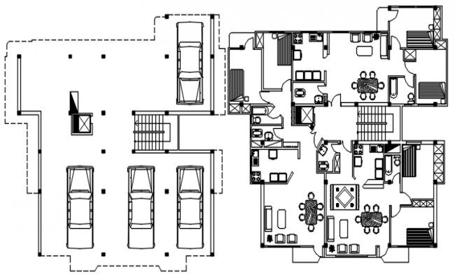 Apartment Building Design In AutoCAD File