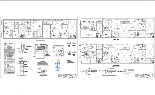 apartment electrical plan and detail in autocad dwg files. Black Bedroom Furniture Sets. Home Design Ideas