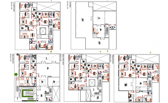 Apartment flat planning detail dwg file