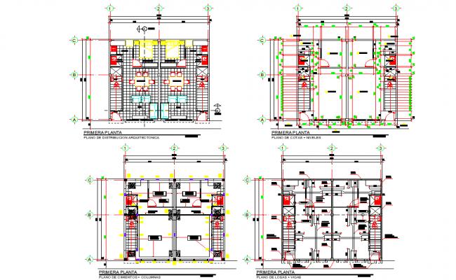 Apartment house plan detail autocad file