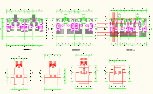Apartment lay-out detail in dwg file
