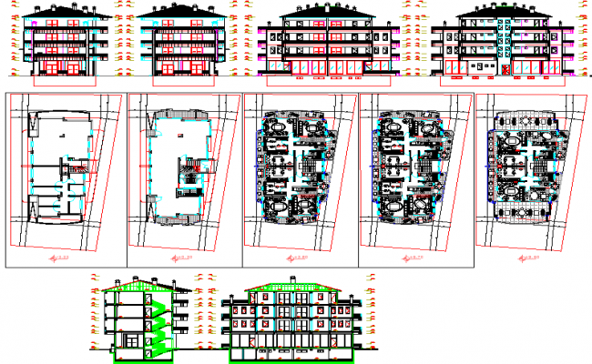 Apartment plan and construction Detailing