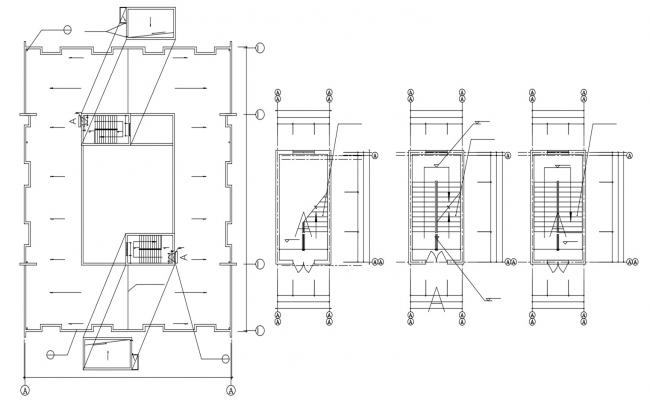 Apartment staircase Design Plan