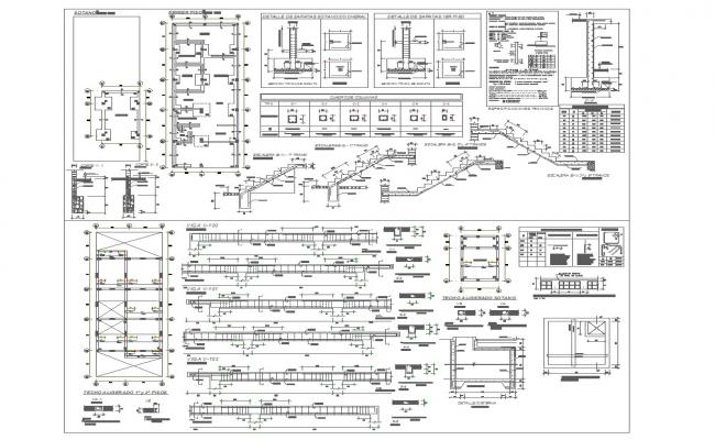 Apartment structure detail cad dwg files