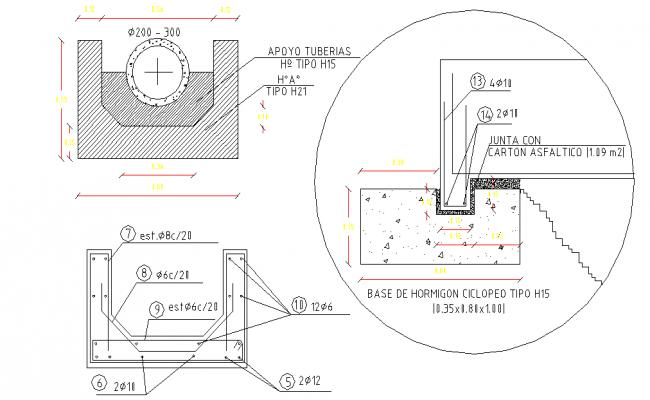 Aqueduct bridge plan layout file
