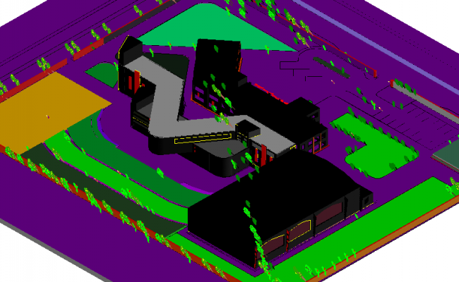 Arabi art  design view of house 3d design dwg file