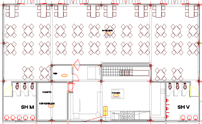 Arc Club House Architecture Layout and Structure Details dwg