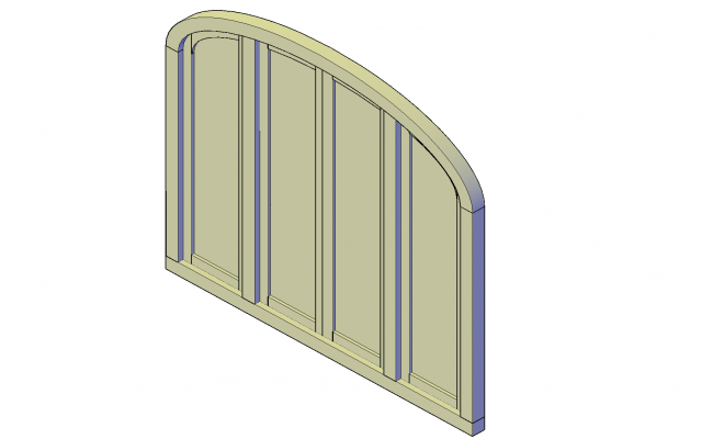 Arched window unit plan detail dwg file.