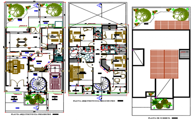 Architect design house plan detail dwg file