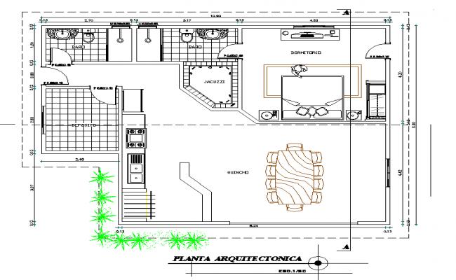Architect design housing detail dwg file