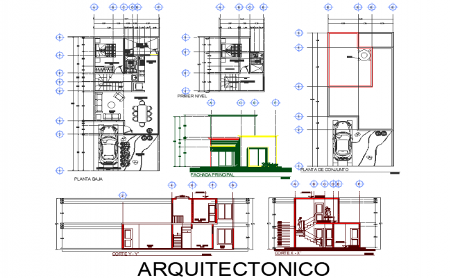 Architect home plan autocad file