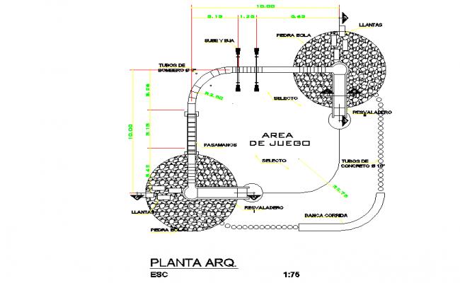 Architect home plan autocad file