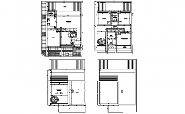 architect home planing autocad file - Home Planing