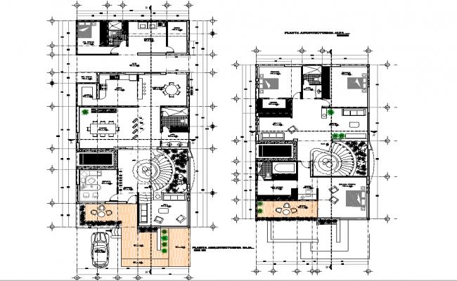 Architect house plan autocad file