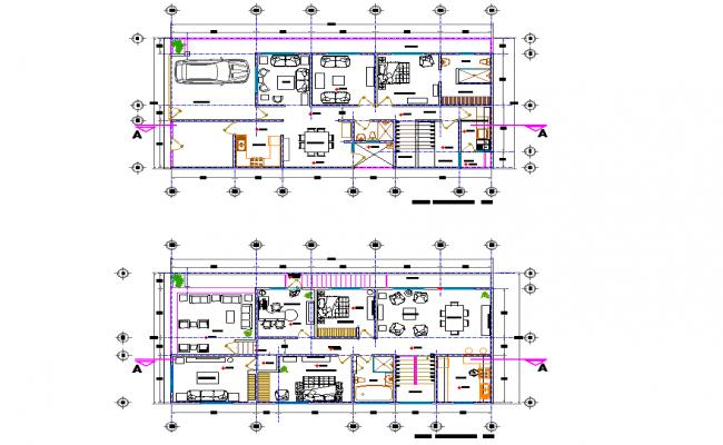 Architect house plan detail layout file