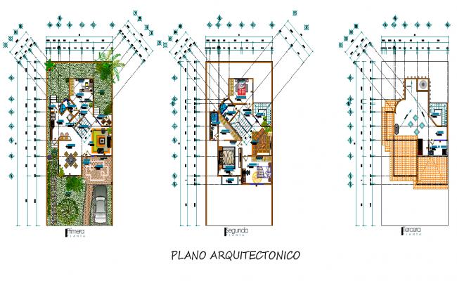 Architect rustics house plan detail dwg file