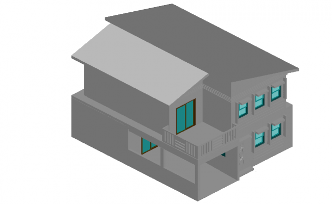 Architectural 3d elevation plan of a house