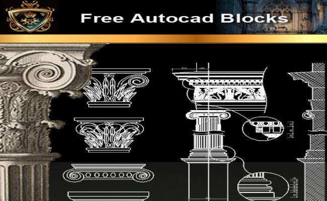 Architectural Decoration Elements CAD Blocks 2