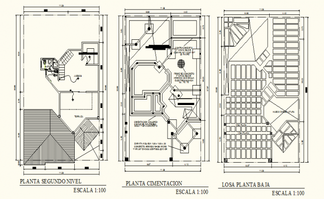 Autocad House Plans With Dimensions Residential Building