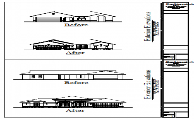 Architectural Elevation design drawing