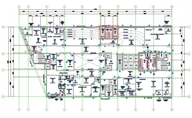 Architectural Factory Office Plan DWG File