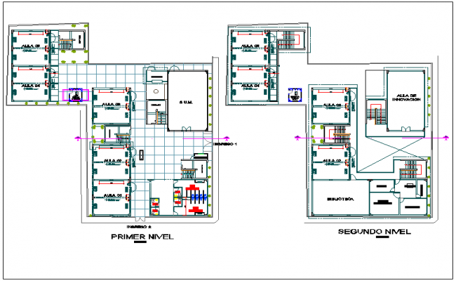 Architectural Floor plan for collage dwg file