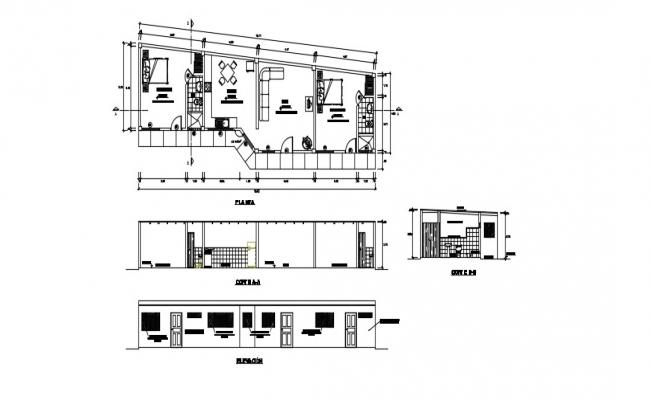 Architectural House Plan In DWG File