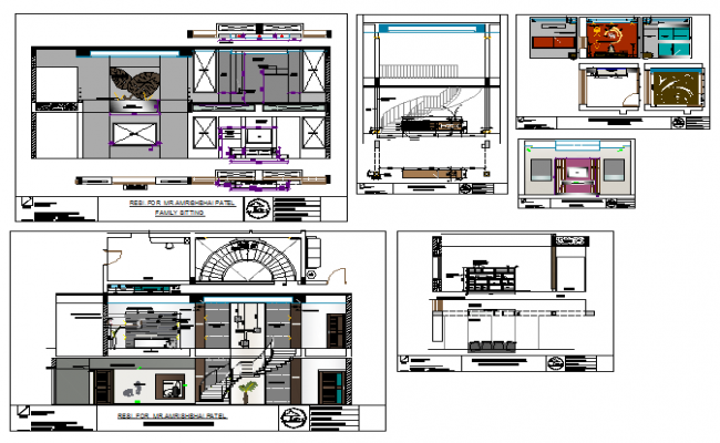 Architectural House project design drawing