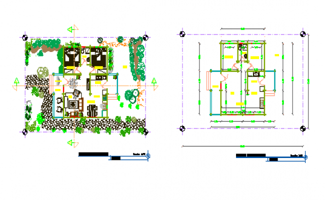 Architectural Layout design drawing of House design