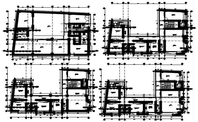 Apartment Floor Plans Designs In AutoCAD File