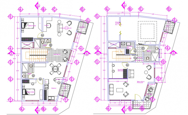 Architectural Residential Autocad Plans