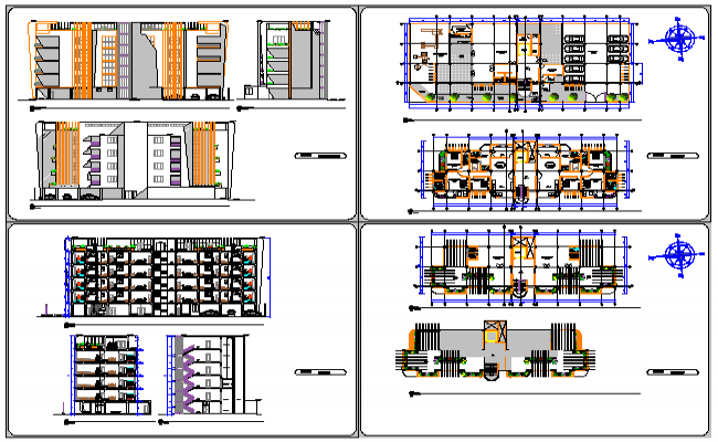 Architectural apartment luxurious design drawing