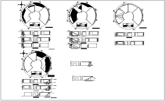Architectural astronomical instrument Structure dwg file
