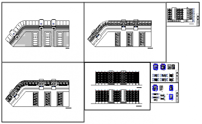Architectural based blocks of flats design drawing