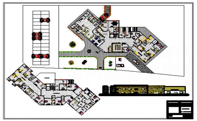 Architectural based clinic design drawing