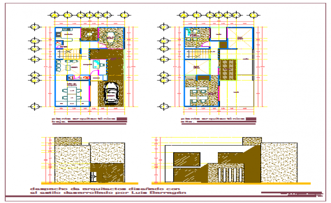 Architectural based office design drawing